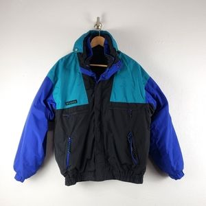 Vintage 90s Columbia Vamoose Color Block Coat